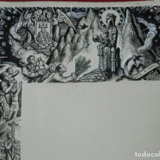 Arte: (M) DIBUJO ORIGINAL DEL GOZO DE MONTSERRAT S.XX, 47X33 CM, BUEN ESTADO. Lote 184097638