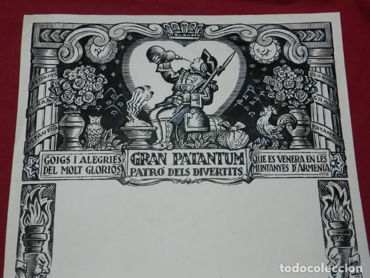 (M) DIBUJO ORIGINAL DEL GOZO DE GRAN PATANTUM PATRO DELS DIVERTITS VENERA MUNTANYES D'ARMENIA (Arte - Arte Religioso - Pintura Religiosa - Otros)