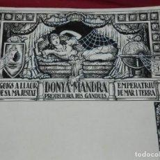 Arte: (M) DIBUJO ORIGINAL DEL GOZO DONYA MANDRA PROTECTORA DELS GANDULS S.XX. Lote 184097921