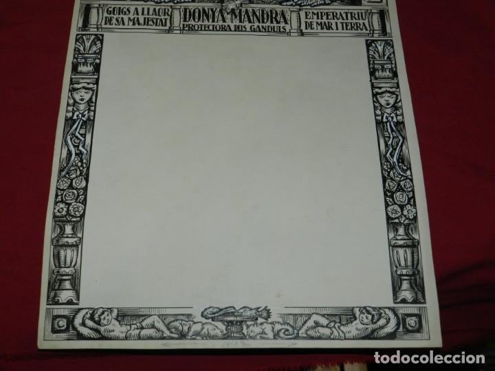 Arte: (M) DIBUJO ORIGINAL DEL GOZO DONYA MANDRA PROTECTORA DELS GANDULS S.XX - Foto 4 - 184097921