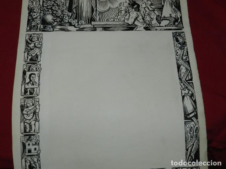 Arte: (M) DIBUJO ORIGINAL DEL GOZO DE ORACIÓ A SANTA LLUCIA S.XX, 47X33 CM, BUEN ESTADO - Foto 2 - 184097996