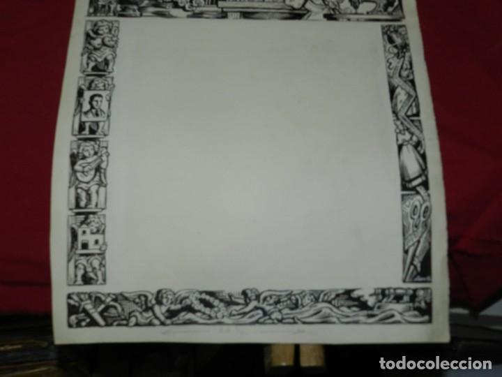Arte: (M) DIBUJO ORIGINAL DEL GOZO DE ORACIÓ A SANTA LLUCIA S.XX, 47X33 CM, BUEN ESTADO - Foto 3 - 184097996