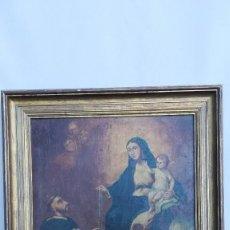 Arte: OLEO SOBRE LIENZO VIRGEN DEL ROSARIO. Lote 184108762