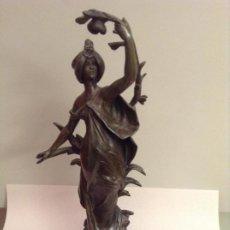 Arte: FIGURA EN BRONCE DE AUGUSTE MOREAU (S.XIX). Lote 184137258