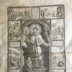 Arte: SAN RAMON NONAT - NONATO - MERCEDARIO - GRABADO AGUSTÍN SELLENT - RARO - S.XVIII. Lote 184180802