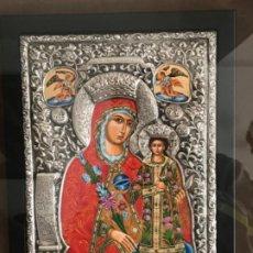 Arte: GRAN ICONO DE PLATA 925 PINTADO AL OLEO, CLARTE. CERTIFICADO. VER FOTOS. . Lote 184346085