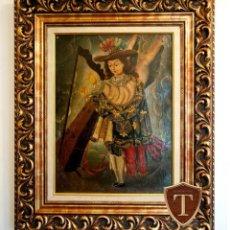 Arte: FABULOSO CUADRO PINTURA ANTIGUA OBRA DE ARTE COLONIAL ESCUELA DE CUZCO - ENVÍO GRATIS PENÍNSULA.. Lote 184370023