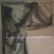 Arte: ACUARELA DE LA ILUSTRADORA MARYAN RIBAS PARA NOVELA ILUSTRADA AÑOS. Lote 184388167