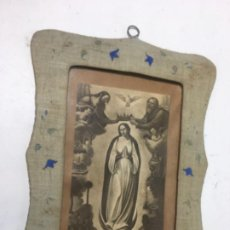Arte: ORIGINAL ANTIGUO CUADRO S.XIX VIRGEN MEDIDAS FOTOGRAFIADAS. Lote 184407690