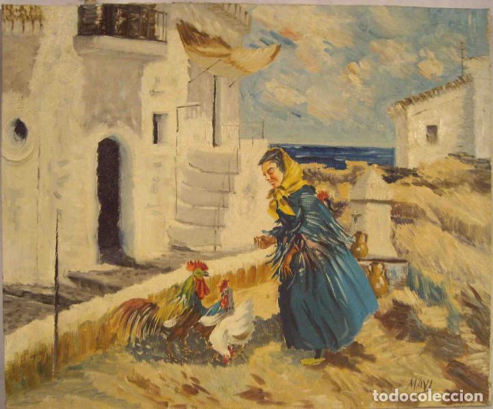 OLEO MOTIVO ANDALUZ 3 (Arte - Arte Religioso - Pintura Religiosa - Oleo)