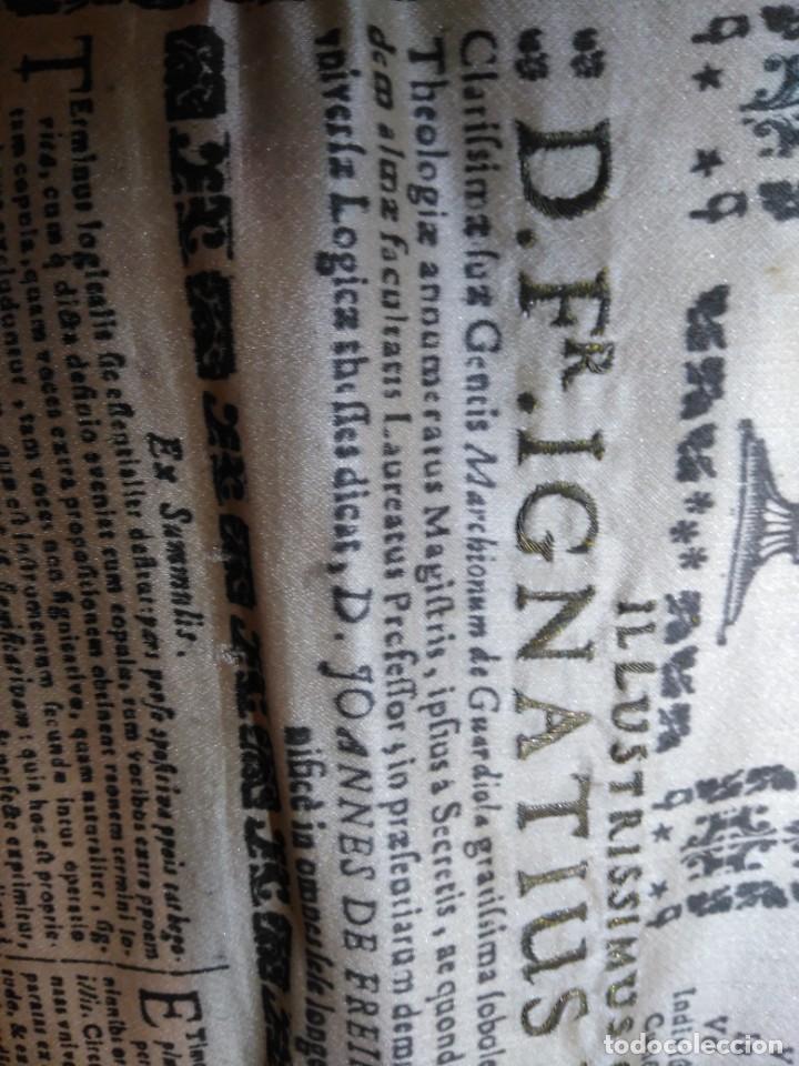 Arte: EXCEPCIONAL TAPIZ RELIGIOSO RECONOCIMIENTO AL HONOR,GRABADO IMPRESO SOBRE SEDA Y BORDADO.AÑO 1760 - Foto 24 - 184493476