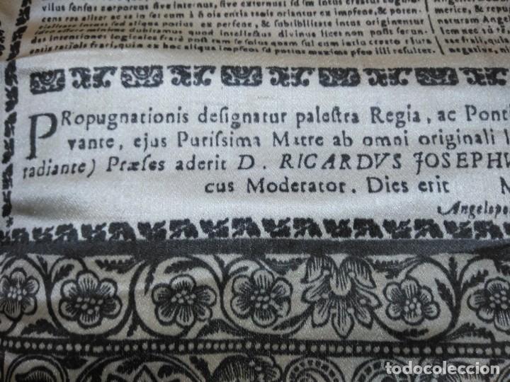 Arte: EXCEPCIONAL TAPIZ RELIGIOSO RECONOCIMIENTO AL HONOR,GRABADO IMPRESO SOBRE SEDA Y BORDADO.AÑO 1760 - Foto 30 - 184493476