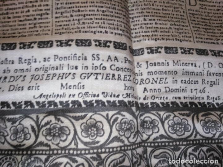Arte: EXCEPCIONAL TAPIZ RELIGIOSO RECONOCIMIENTO AL HONOR,GRABADO IMPRESO SOBRE SEDA Y BORDADO.AÑO 1760 - Foto 31 - 184493476