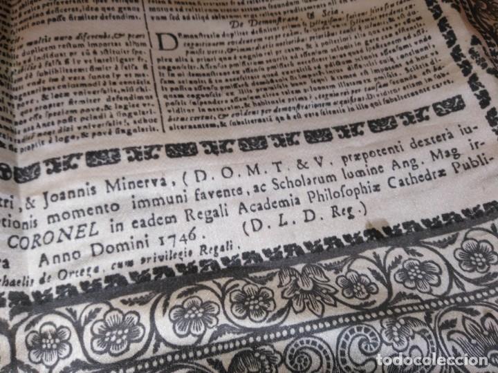 Arte: EXCEPCIONAL TAPIZ RELIGIOSO RECONOCIMIENTO AL HONOR,GRABADO IMPRESO SOBRE SEDA Y BORDADO.AÑO 1760 - Foto 32 - 184493476