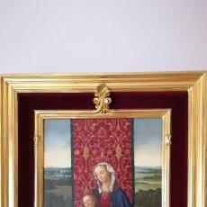 Arte: OLEO SOBRE TABLA VIRGEN CON NIÑO ANTONIO RIVAS. Lote 184530923
