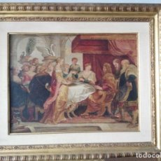 Arte: OLEO TABLA ESCUELA FLAMENCA DEGOLLAMIENTO DE SAN JUAN. Lote 184532542