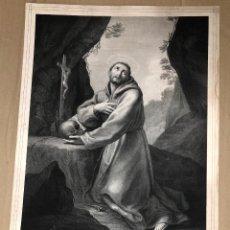 Arte: LITOGRAFIA SAN FRANCISCO DE ASIS. SIGLO XIX. Lote 184538322