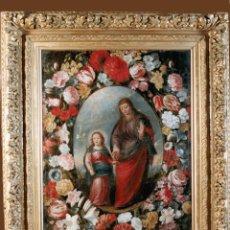 Arte: OLEO SANTA ANA Y LA VIRGEN SIGLO XVII. Lote 184544275