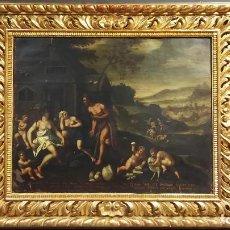 Arte: OLEO SOBRE COBRE HOLANDES SIGLO XVIII. Lote 184544565