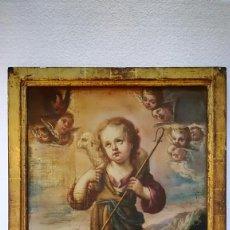 Arte: OLEO SOBRE LIENZO NIÑO JESUS SIGLO XVII. Lote 184545671