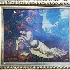 Arte: OLEO SOBRE TABLA MARIA MAGDALENA SIGLO XVIII. Lote 184546171