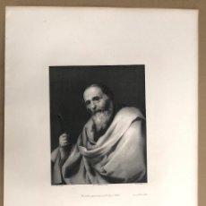 Arte: LITOGRAFIA SAN BARTOLOME. APOSTOLADO DEL PRADO. JOSE DE RIBERA. SIGLO XIX. Lote 184626677