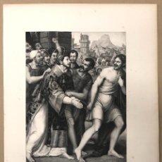 Arte: LITOGRAFIA SAN ESTEBAN CONDUCIDO AL MARTIRIO. JUAN DE JUANES. SIGLO XIX. Lote 184628191