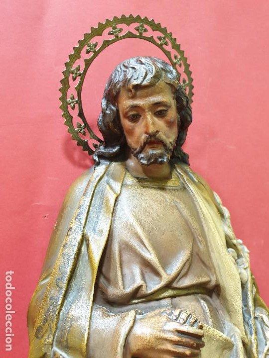 Arte: Precioso San José con Niño de estuco policromado. Olot. - Foto 7 - 184655531