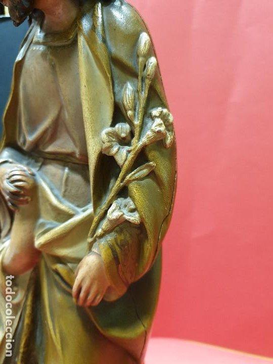 Arte: Precioso San José con Niño de estuco policromado. Olot. - Foto 8 - 184655531