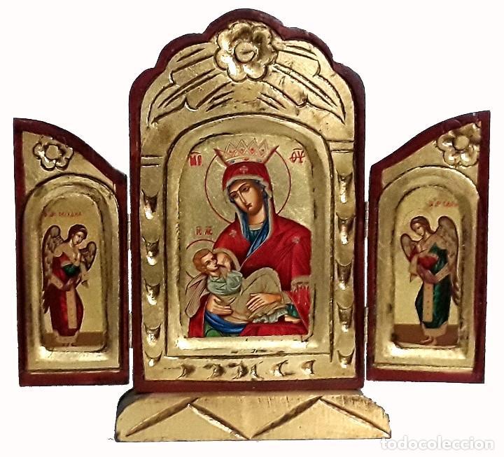 VIRGEN CON EL NINIO (Arte - Arte Religioso - Trípticos)