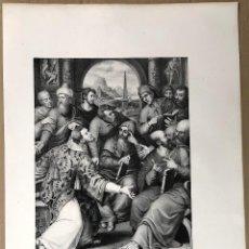 Arte: LITOGRAFIA SAN ESTEBAN EN LA SINAGOGA. JUAN DE JUANES. SIGLO XIX. Lote 184708687