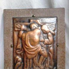 Arte: CRISTO EN LA CRUZ. METAL Y MADERA. OBRA DE FRANCESC GASSÓ. UNA OBRA DE ARTE EN SU CASA. Lote 184742211