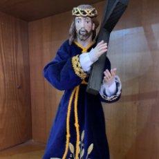 Arte: IMAGEN DE JESÚS NAZARENO DE CANDELERO 44 CM ALTO.. Lote 184774141
