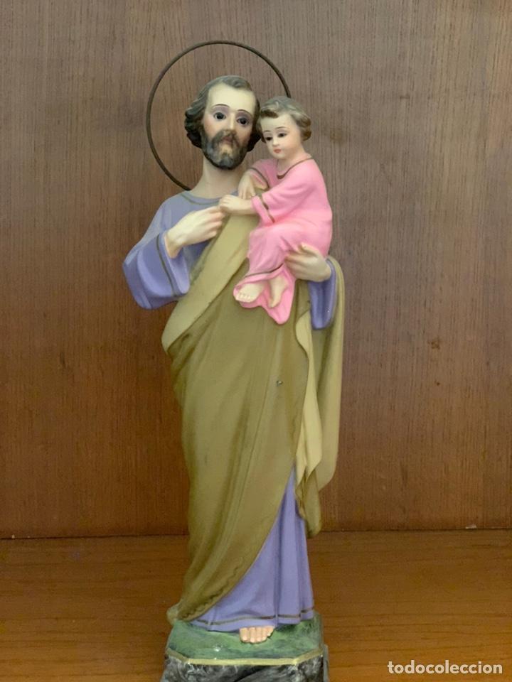 SAN JOSÉ 31 CM ALTURA. EL ARTE MODELO OLOT. (Arte - Arte Religioso - Escultura)
