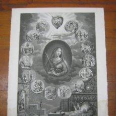 Arte: FABULOSO GRABADO SIGLO XIX BASSET - ROSARIO DE LA SANTISIMA VIRGEN - VIDA DE JESUS NATIVIDAD. Lote 184793098