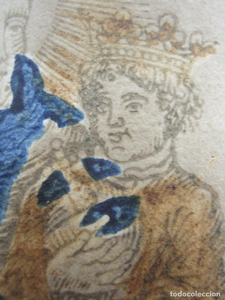 Arte: Grabado al boj iluminado - S.XVIII - San Antonio de Padua - Foto 9 - 184803070