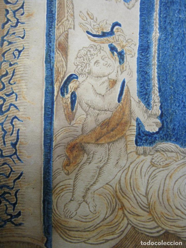 Arte: Grabado al boj iluminado - S.XVIII - San Antonio de Padua - Foto 10 - 184803070
