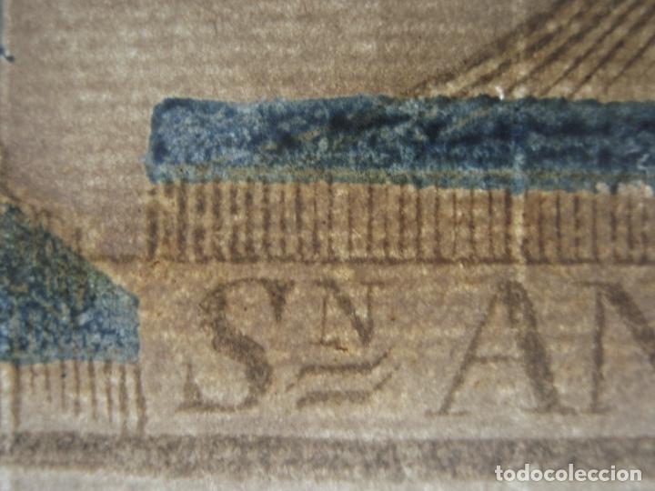 Arte: Grabado al boj iluminado - S.XVIII - San Antonio de Padua - Foto 12 - 184803070