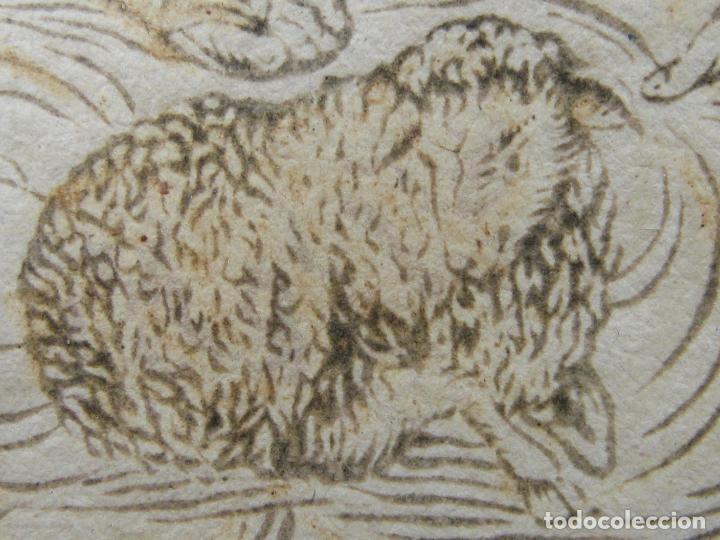 Arte: Grabado al boj iluminado - S.XVIII - San Antonio de Padua - Foto 13 - 184803070