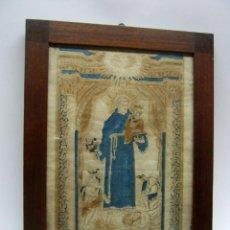Arte: GRABADO AL BOJ ILUMINADO - S.XVIII - SAN ANTONIO DE PADUA. Lote 184803070