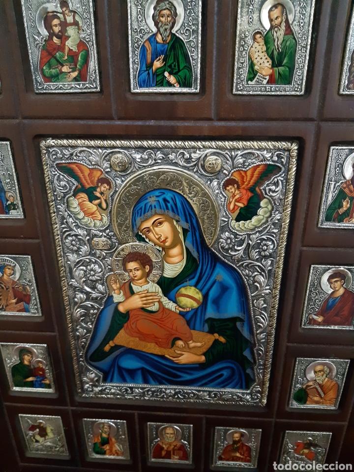 Arte: Icono bizantino ortodoxo plata y oro - Foto 2 - 184853375