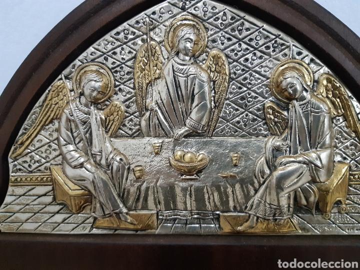 Arte: Icono bizantino ortodoxo plata y oro - Foto 3 - 184853375