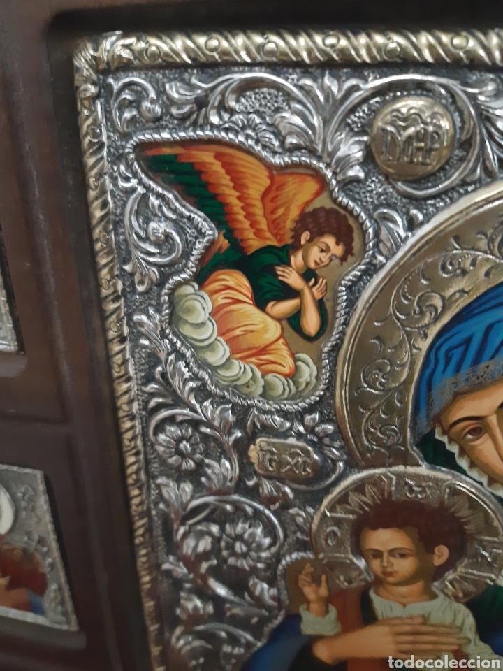 Arte: Icono bizantino ortodoxo plata y oro - Foto 5 - 184853375