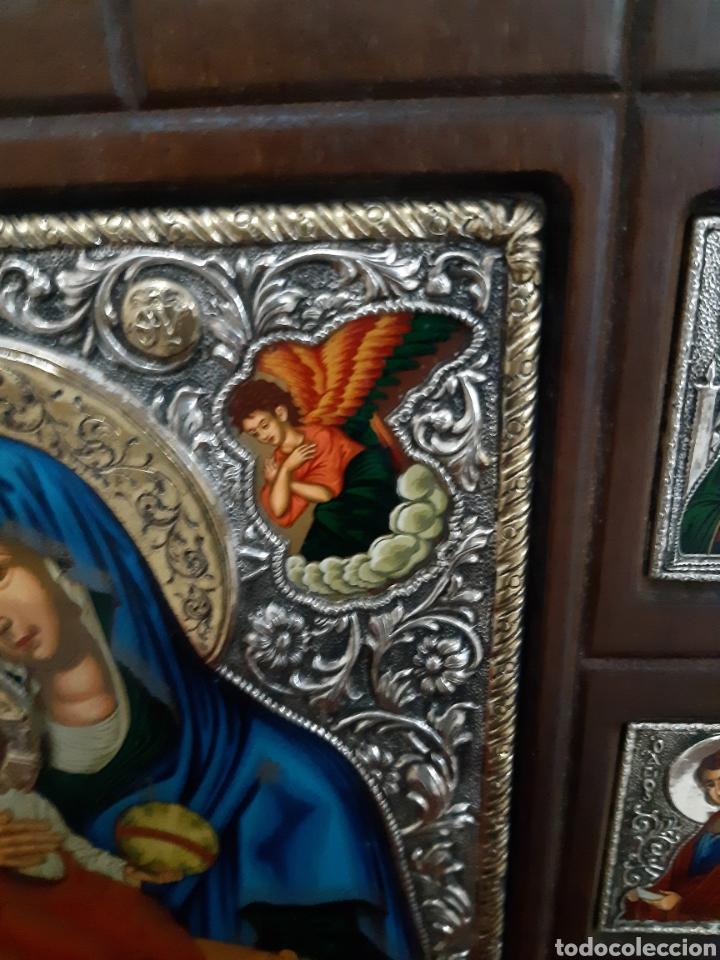 Arte: Icono bizantino ortodoxo plata y oro - Foto 6 - 184853375