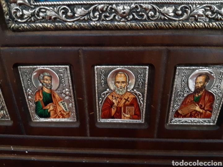 Arte: Icono bizantino ortodoxo plata y oro - Foto 7 - 184853375