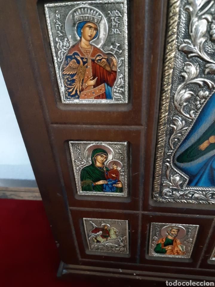 Arte: Icono bizantino ortodoxo plata y oro - Foto 9 - 184853375