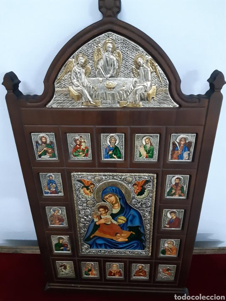 Arte: Icono bizantino ortodoxo plata y oro - Foto 10 - 184853375