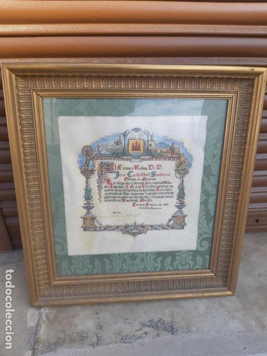 BENDICION RELIGIOSA. OBISPO DE ASTORGA JOSE CASTELLTORT A HILADOS TAPIOLAS, TERRASSA. 1957 (Arte - Arte Religioso - Pintura Religiosa - Otros)