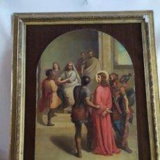 Arte: JUICIO DE JESÚS ANTE HERODES ÓLEO SOBRE LIENZO CIRCA 1830 GRAN TAMAÑO. Lote 184931936
