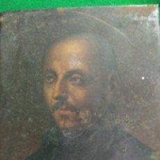 Arte: PEQUEÑO MUY ANTIGUO RETRATO SAN IGNACIO LOYOLA ÉPOCA SIGLO XVI SOBRE HIERRO 12,5 X 15 CM 18.900,00. Lote 185100972